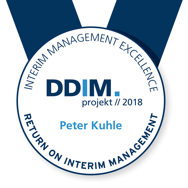 Winner of the DDIM Interim Management Excellence Award | Peter Kuhle | Service & Sales