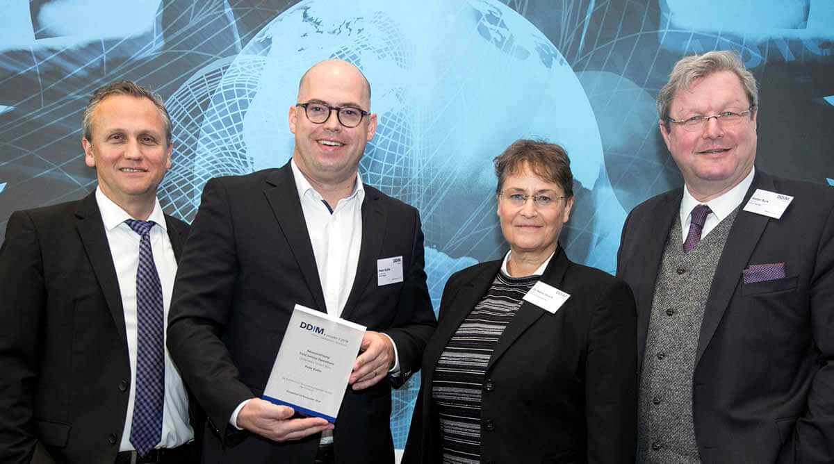 "Preisverleihung ""DDIM.projekt // 2018 - Interim Management Excellence"" in der Kategorie ""Return on Interim Management"""